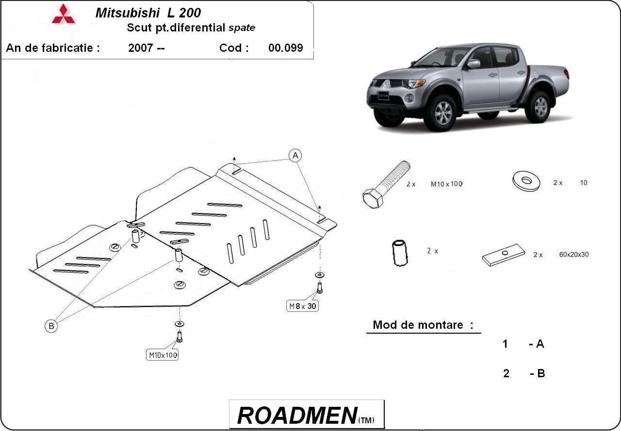 motor cu scut Mitsubishi - Pajero sport/difi
