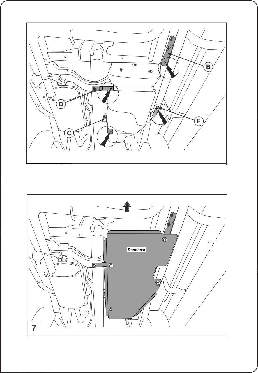 motor fără scut Nissan - Navara rezervor