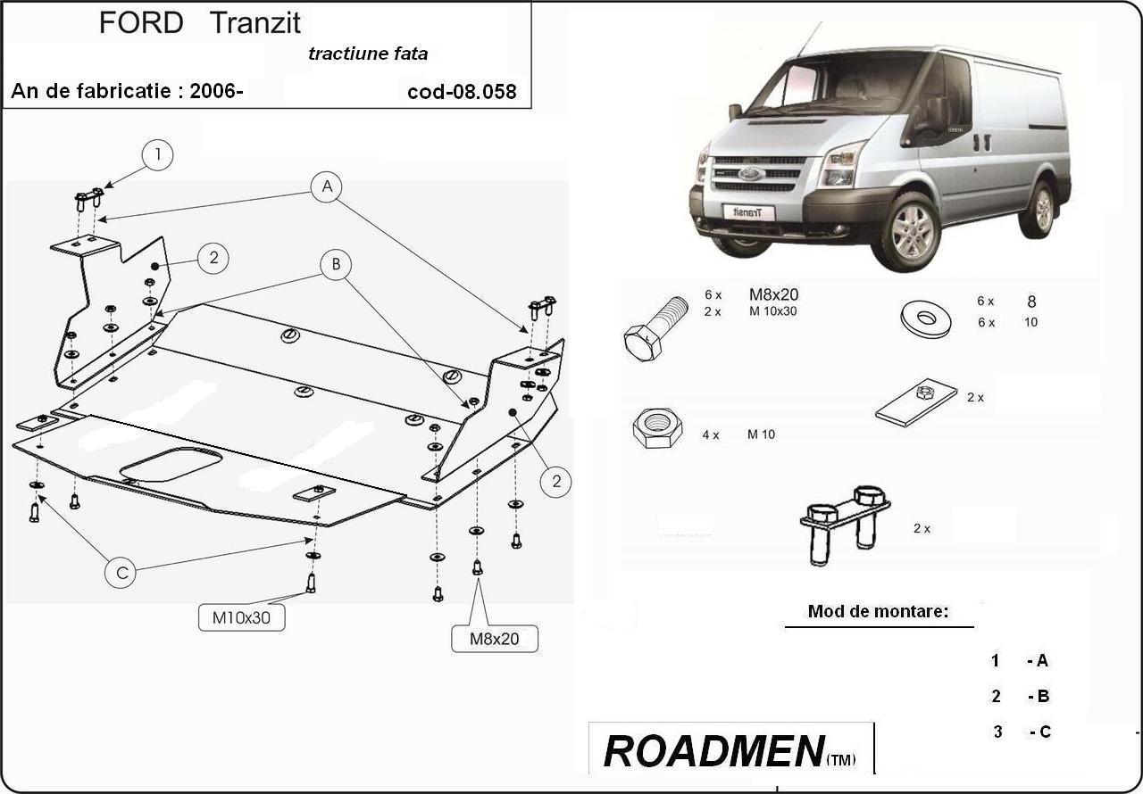 motor cu scut Ford - Transit Custom