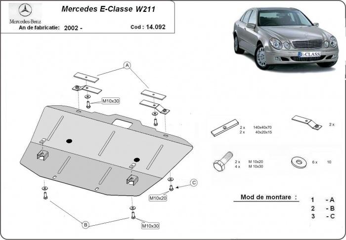 motor cu scut Mercedes - E-classe W 211