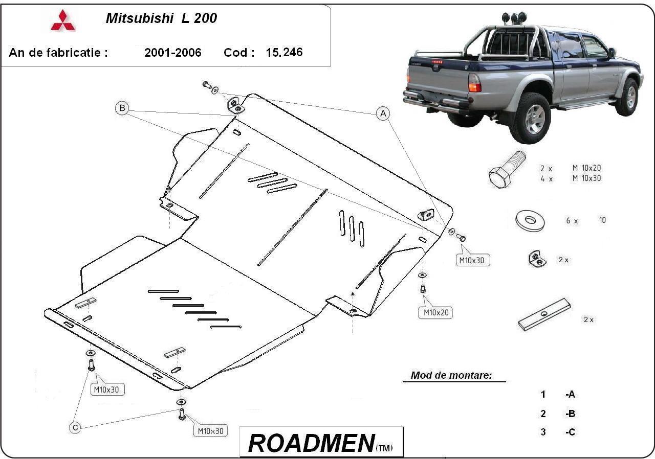 motor cu scut Mitsubishi - L 200
