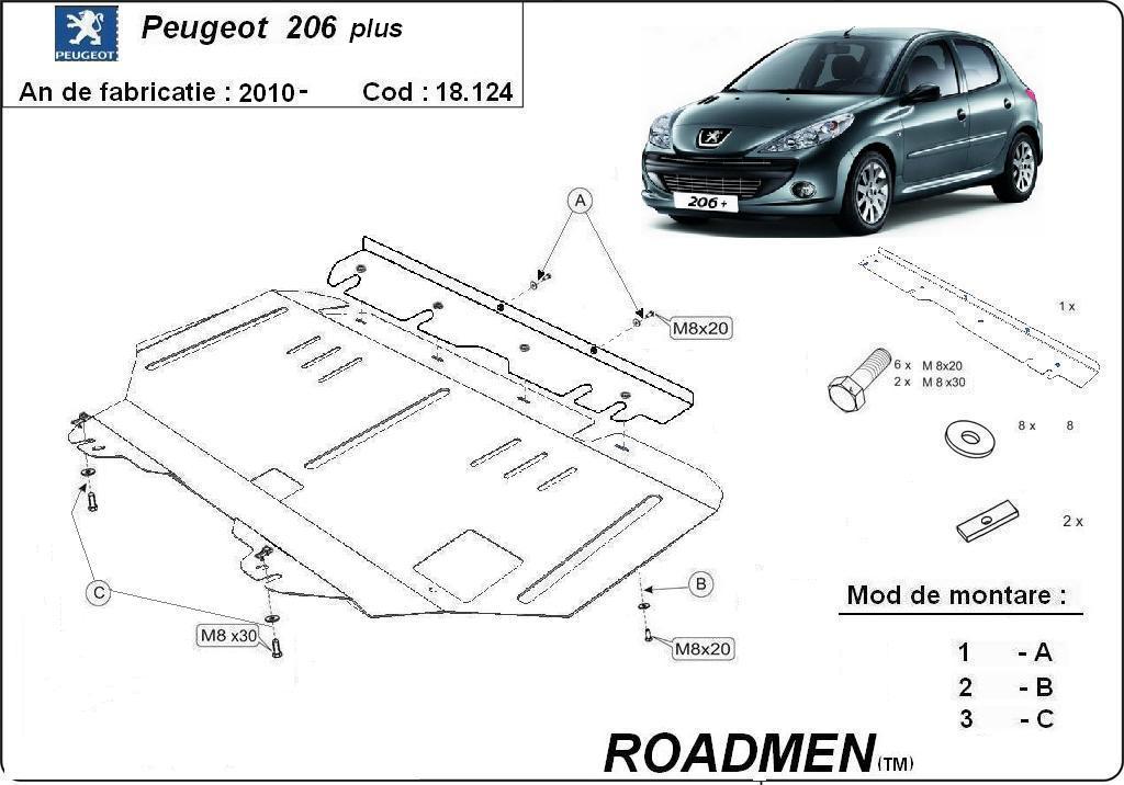motor cu scut Peugeot - 206 plus