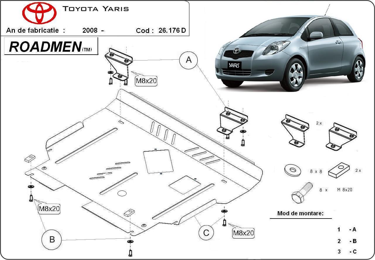 motor cu scut Toyota - Yaris disel