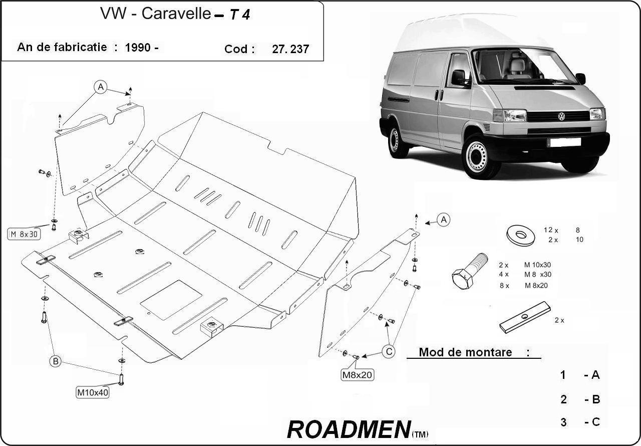 motor cu scut Volkswagen - T4