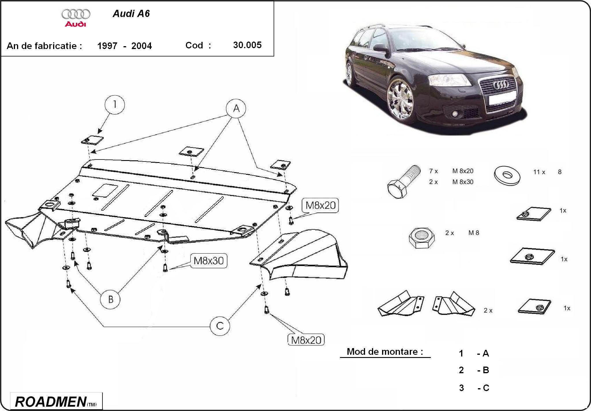 motor cu scut Audi - A6