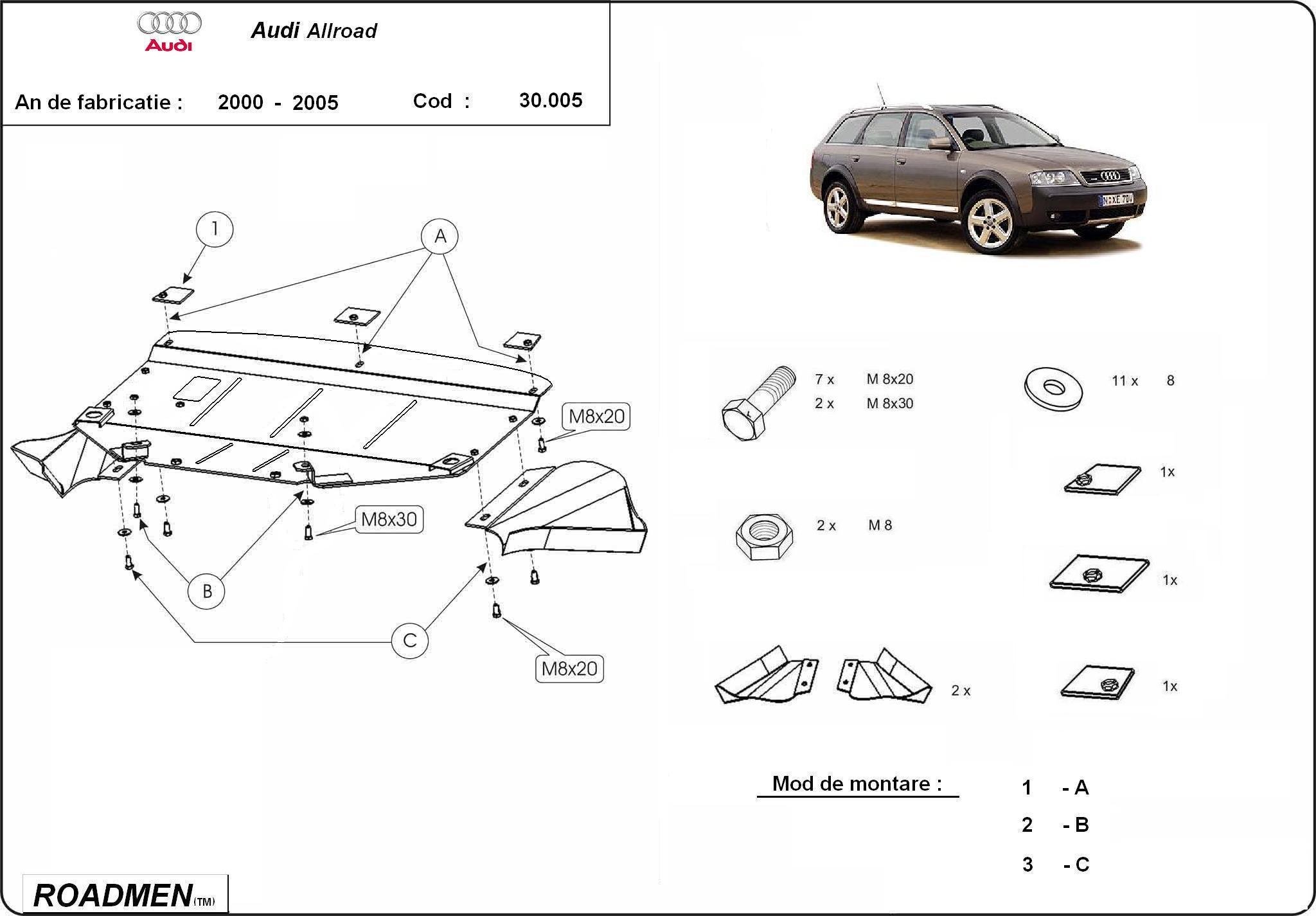 motor cu scut Audi - Allroad